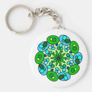 White Green Blue Geometric Star KeyChain