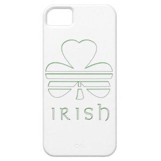 White & Green Fringe Shamrock with Horizontal Stri iPhone 5 Cover