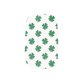 White green shamrocks minx ® nail art
