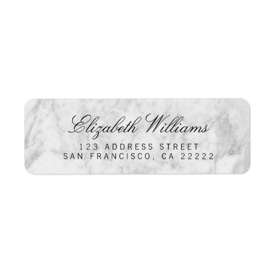 White Grey Marble Return Address Labels