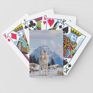 White Grey Wolf & Rocky Mountains Wildlife Art Card Decks