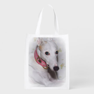 WHITE GREYHOUND REUSABLE BAG