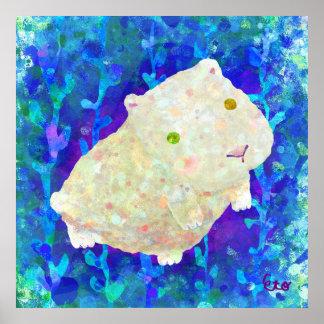 white guinea pig poster