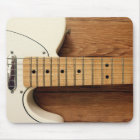 White Guitar Mouse Mat