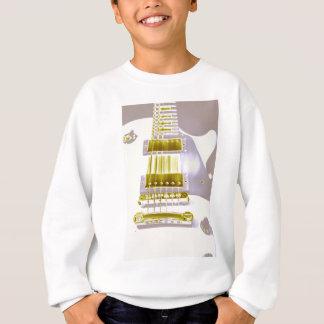 White guitar sweatshirt