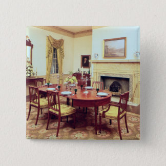 White Hall Dining-Room, near Charleston 15 Cm Square Badge