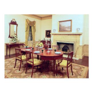 White Hall Dining-Room, near Charleston Postcard