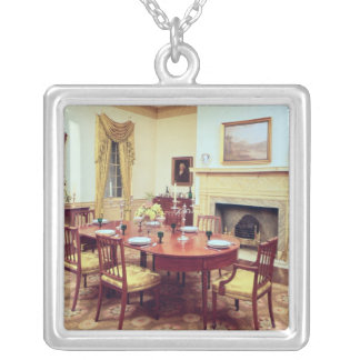 White Hall Dining-Room, near Charleston Silver Plated Necklace