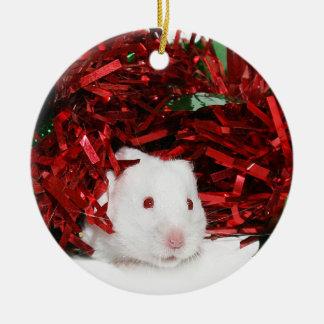 White hamster Christmas Christmas Ornament