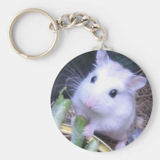 White Hamster Key Ring