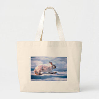 White Hare Large Tote Bag