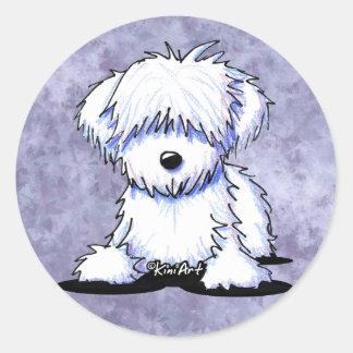 White Havanese Classic Round Sticker