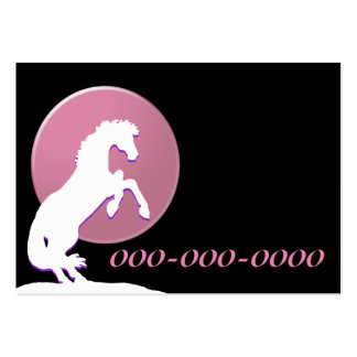 White Heart Horses V (Pink) Pack Of Chubby Business Cards