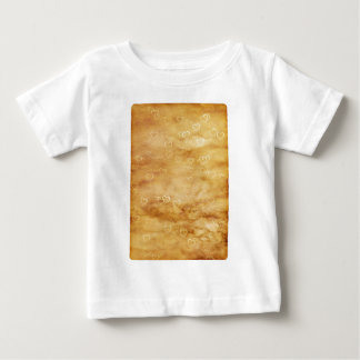 White Hearts of Tea Stained Parchment Baby T-Shirt