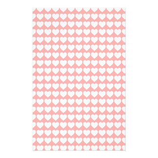 White Hearts on Blush Pink Flyers