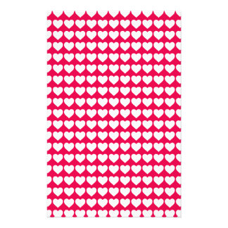 White Hearts on Lipstick Pink Flyers