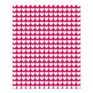 White Hearts on Lipstick Pink Custom Flyer