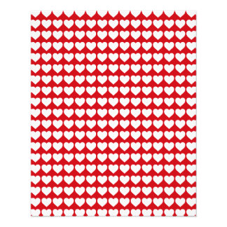 White Hearts on Lipstick Red Custom Flyer