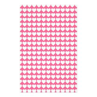 White Hearts on Midi Pink Flyer Design
