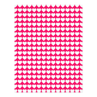 White Hearts on Rose Pink Personalized Flyer