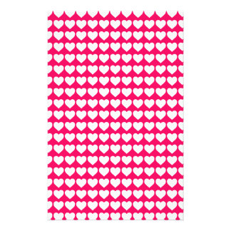 White Hearts on Rose Pink Flyers