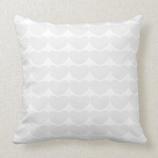 White Hearts Throw Pillows Throw Cushion