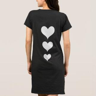 White hearts Valentine Dress