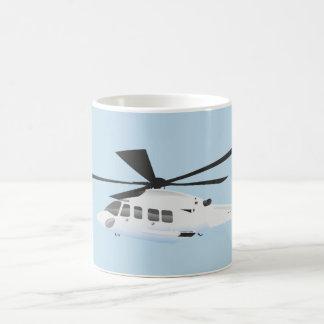White helicopter Mug