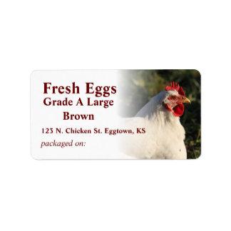 White Hen Egg Label Address Label