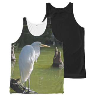 White Heron All-Over Print Tank Top