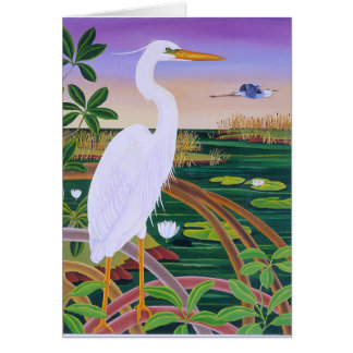 White Heron Card