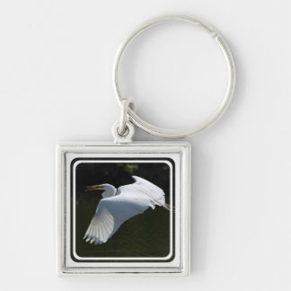 White Heron Keychain