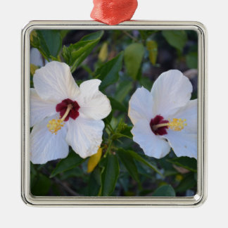 White Hibiscus. Christmas Ornament
