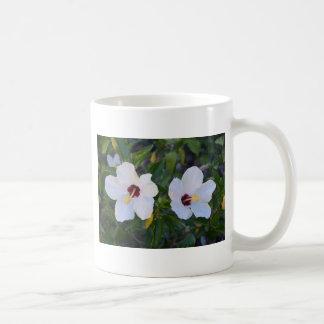 White Hibiscus. Coffee Mug