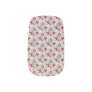 White Hibiscus Flower Minx Nail Art