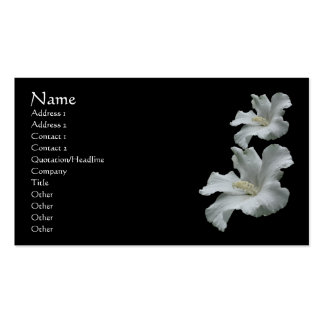 White Hibiscus Flower Nature Business Card