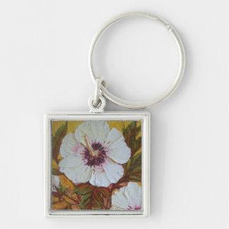White Hibiscus Key Chain