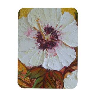 White Hibiscus Magnet