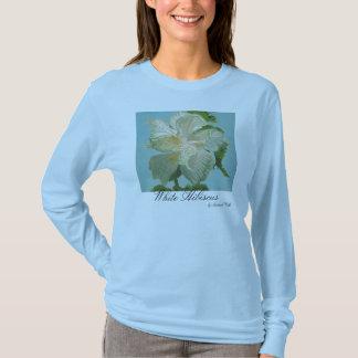 white Hibiscus T-Shirt