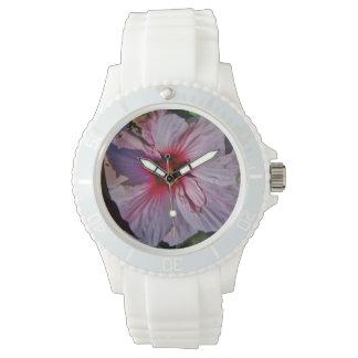 White Hibiscus Watch