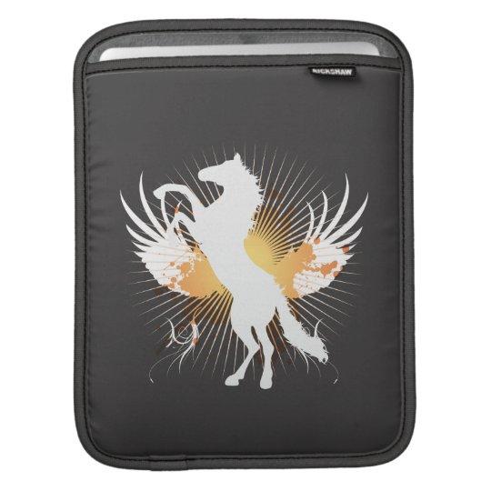 white horse abstract art v1 iPod sleeve iPad Sleeve