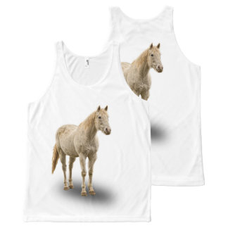 WHITE HORSE All-Over PRINT TANK TOP