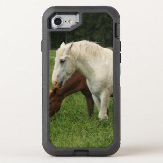 White Horse Animal OtterBox Defender iPhone 8/7 Case