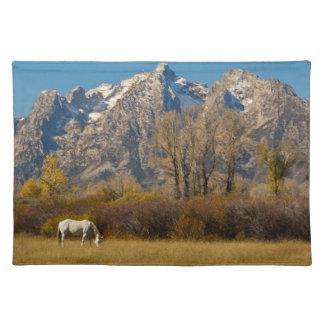 White Horse, autumn, Grand Tetons Placemat