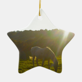 White Horse Christmas Ornament
