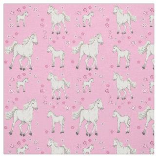White Horse Fabric