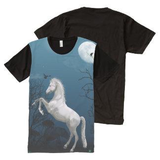 White Horse Fantasy All-Over Print T-Shirt