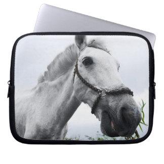 White Horse Grazing Computer Sleeve