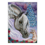 WHITE HORSE Hoilday Squirrel Note Card