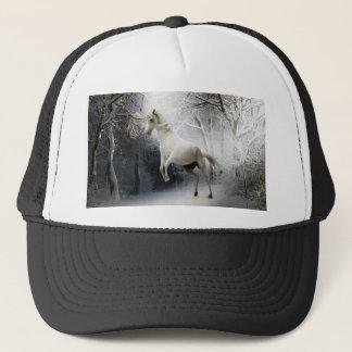 White Horse in Snow Cap